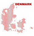 Denmark map - mosaic of love hearts