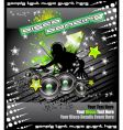 disk jockey music background vector image vector image
