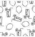 doodle of lemon fresh drink vector image