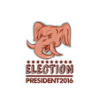 Election President 2016 Republican Elephant Mascot vector image vector image