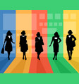 elegant women silhouettes vector image vector image