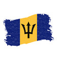flag of barbados grunge abstract brush stroke vector image vector image