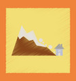 flat shading style icon house avalanche vector image vector image