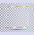 gold shiny frame vector image vector image