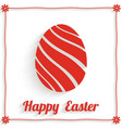 greeting card with abstract easter egg and happy vector image vector image