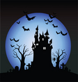 halloween scene vector image