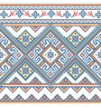 Handmade cross-stitch ethnic Ukraine pattern vector image vector image