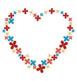 heart floral frame icon vector image