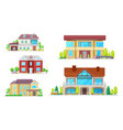 house buildings cottage village homes and villas vector image vector image