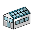 House exterior with panel solar isolated icon