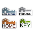 house key real estate stickers vector image vector image