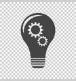 idea with light lamp bulb flat vector image vector image