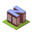 isometric building letter n form vector image vector image