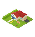 isometric small house for rent vector image vector image