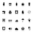 Laundry icons with reflect on white background vector image