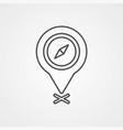 location pin icon sign symbol vector image vector image