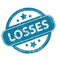 LOSSES round stamp vector image