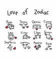 love of zodiac cute cartoon vector image vector image