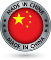 Made in China silver label with flag vector image vector image