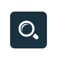 magnifier icon Rounded squares button vector image vector image