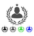 man glory laurel emblem flat icon vector image vector image