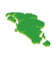 Map of Singapore icon cartoon style vector image vector image