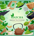 matcha tea ceremony background poster vector image vector image