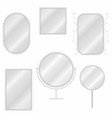 mirrors set in different forms with blurry vector image vector image