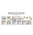 modern jewelry shop or store interior vector image