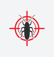 old house borer icon red target insect pest vector image