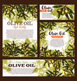 olive oil product olives poster vector image vector image