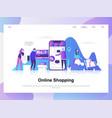 online shopping modern flat design concept vector image