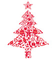 ornate christmas tree vector image