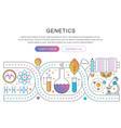 panoramic template poster genetic engineering vector image