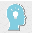 person thinking design vector image vector image