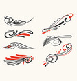 pinstriping ornament elements set vector image vector image