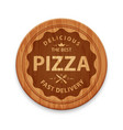 Pizza hipster badge vector image vector image
