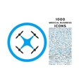 Quadcopter Rounded Icon with 1000 Bonus Icons vector image