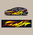 racing car wrap with abstract stripe shapes for vector image vector image