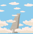 road stairs to heaven sky clouds christianity vector image