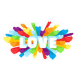 romance heart spray love greeting card vector image