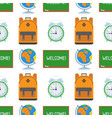 school and education seamless pattern vector image