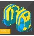 school backpack isometric vector image vector image
