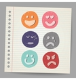 Scribble faces vector image vector image