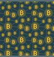 seamless gold bitcoin pattern cryptocurrency vector image