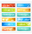 Set of Color Banner vector image vector image