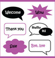 set of speech bubbles various shape in black vector image vector image
