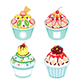 Shave Ice With Different Topping Set vector image vector image