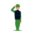 soldier or officer man in military uniform flat vector image