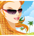 The girl in sunglasses vector image